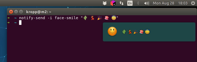🎉 Emoji on 🐧 Linux