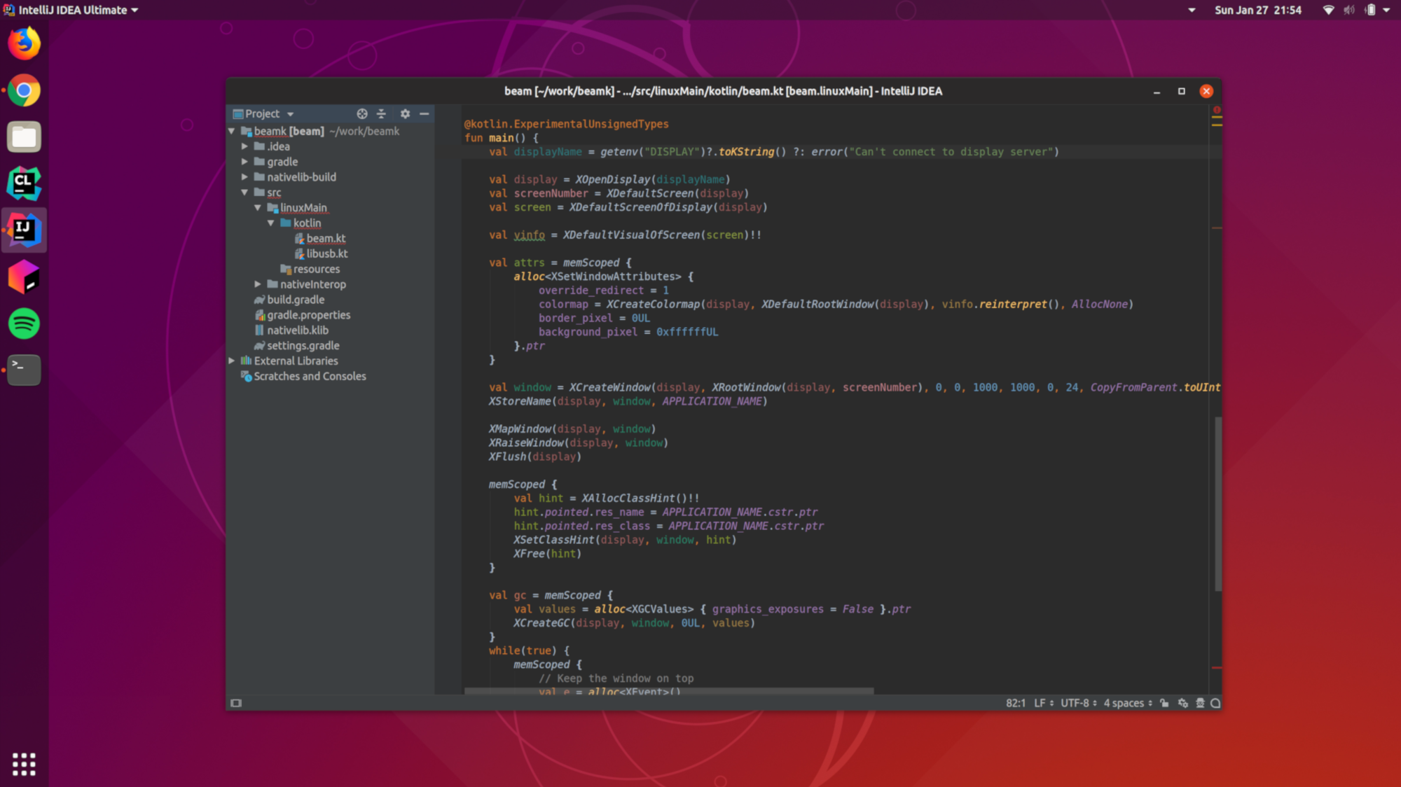 IntelliJ IDEA 2019.1 EAP running on Ubuntu 18.10