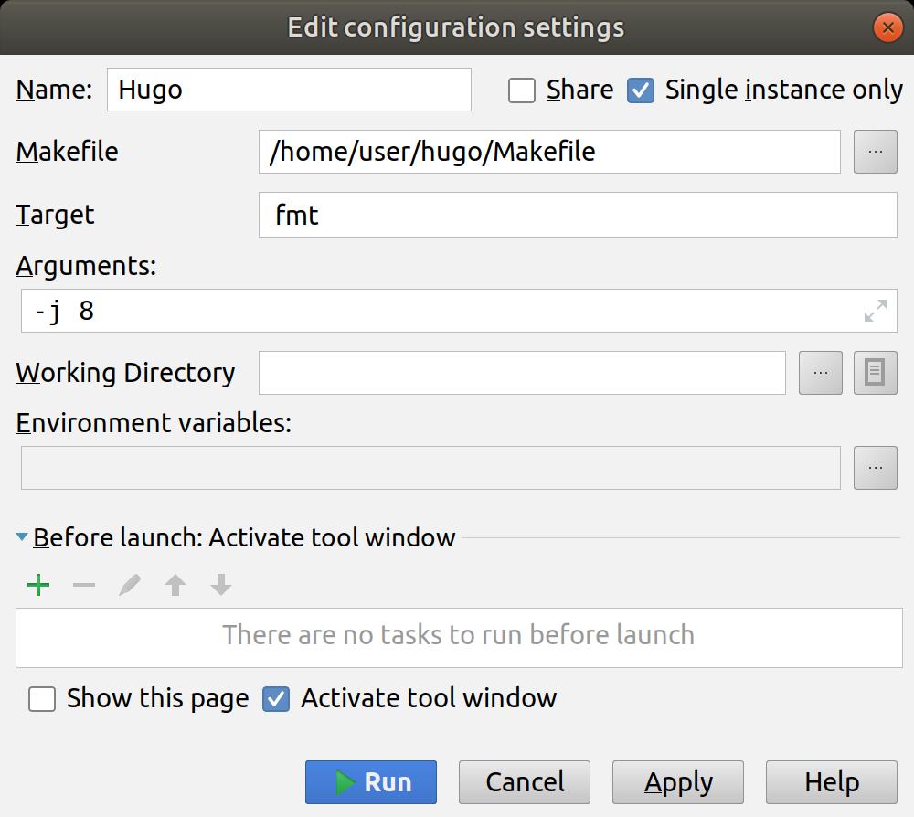 Makefile support plugin for IntelliJ IDEA